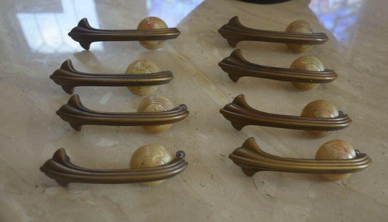 original vintage art deco set of drawer handles