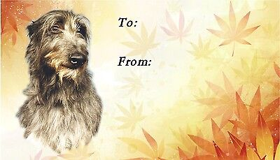 Deerhound Dog Self Adhesive Gift Labels by Starprint