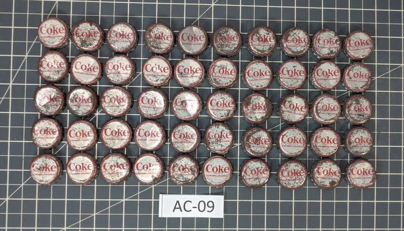 ** 50 Vintage Coke Bottle Caps Cork Lined Syracuse, NY AC-09