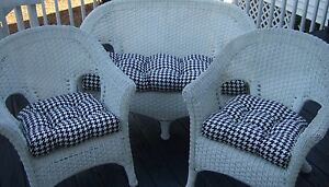 Black And White Outdoor Cushions Ebay