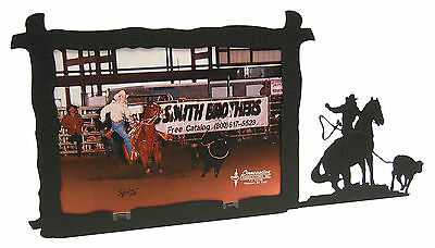 Girl Woman Breakaway Roping Rodeo Picture Frame 5x7 H
