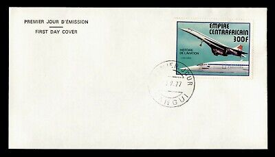 DR WHO 1977 CENTRAL AFRICAN EMPIRE FDC HISTORY OF AVIATION C243314