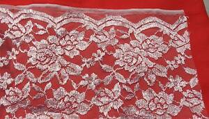 DRESSMAKING FABRIC WHITE CHANTILLY LACE 1 m Double scallop Bellbowrie Brisbane North West Preview