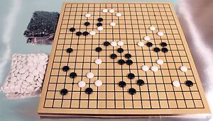 Go Game - Wooden Board - Strategy Game - Ref: 00710