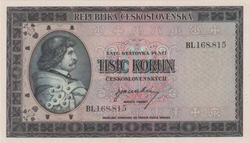 Czechoslovakia 1000 Korun issued 1945 SPECIMEN Pick65s Uncirculated UNC