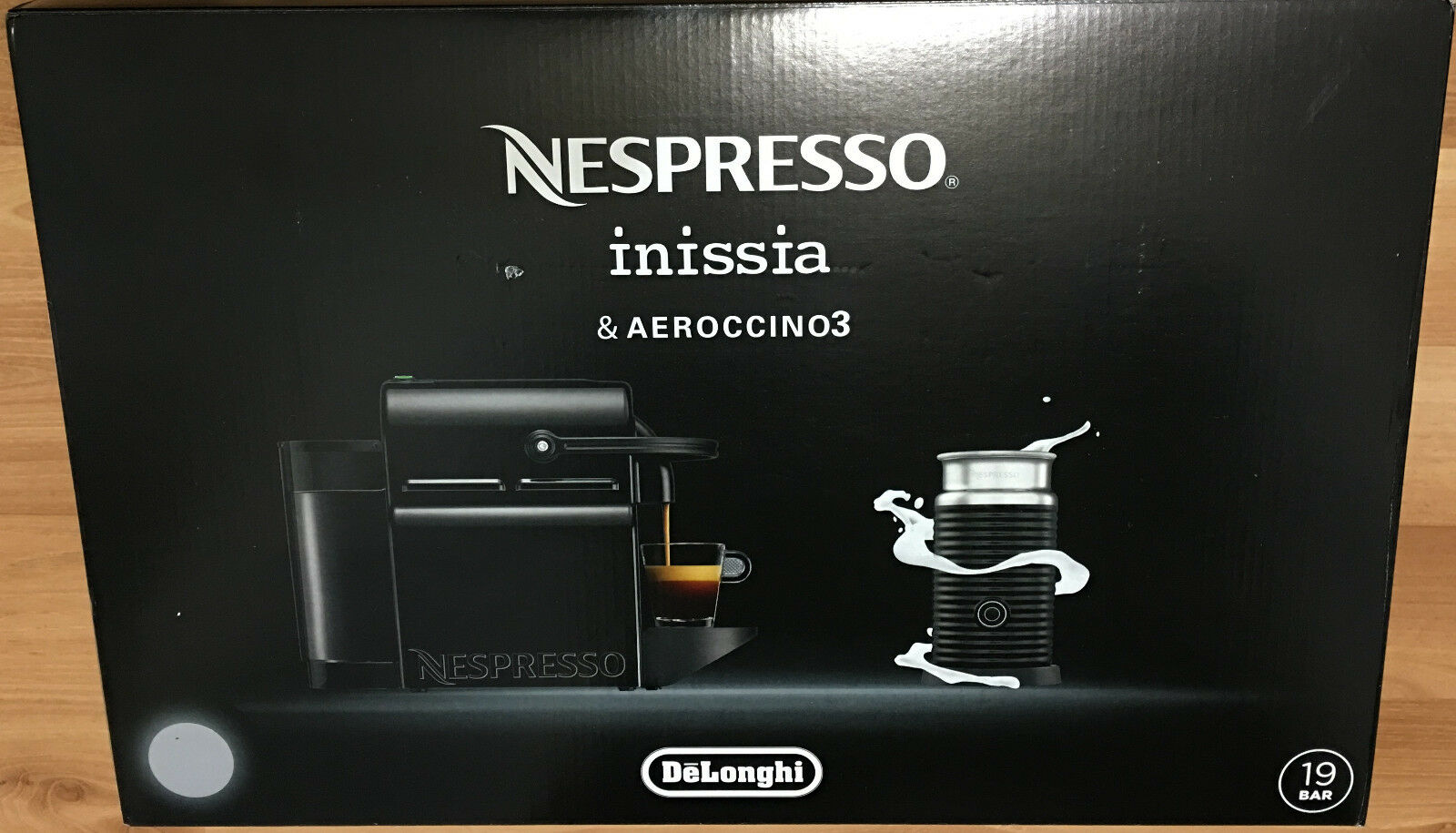 NEW Nespresso Inissia RED Espresso Machine W/ Frother Lungo