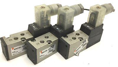 Lot Of 3 Smc Nvk3120-5dz-m5 Poppet Solenoid Valves 2-position 5-way 24vdc