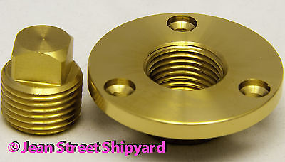 - Boat Garboard Transom Scuttle Drain Plug Machined Marine Bronze 18751