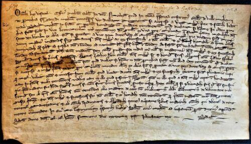 1263 - MEDIEVAL PARCHMENT FROM LOUIS IX & URBAN IV ERA Handschrift auf Pergament