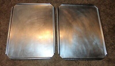 2 Stainless Steel Restaurant Steam Table Pan Lids Covers 16 12 X 12 34 Wide