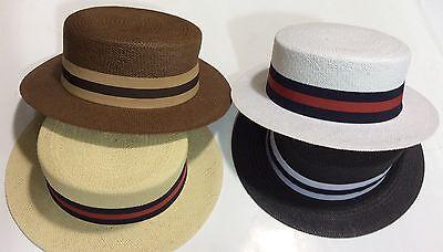 Skimmer Hats (New Men's Bruno Capelo Hat Straw Boater Gatsby barbershop skimmer Fashion)