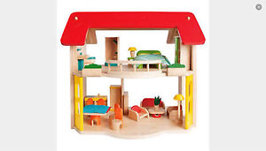 WOODEN DOLLS HOUSE WITH FURNITURE (VOILA BRAND) Doveton Casey Area Preview