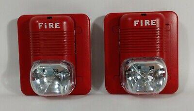 Lot Of 2 System Sensor P1224mc Wall Horn Strobes Fire Alarm