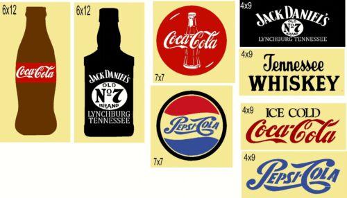 "REUSABLE Stencil ~ITEM ""SET 31"" 8PC SHELF SITTER SET  Coke Mylar Stencils"