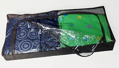 Unterbett Box - Klarsichtdeckel - Vlies mit Reißverschluss - ca. 100x45x16 cm