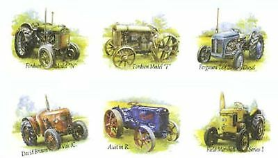 Fordson Farm (6 Farm Tractor Fordson Austin Select-A-Size Ceramic Waterslide Decals)