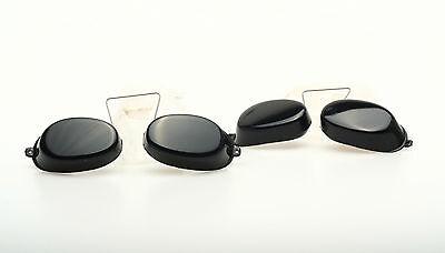 Solarium Schutzbrille mit Metallsteg 2 Stück schwarz
