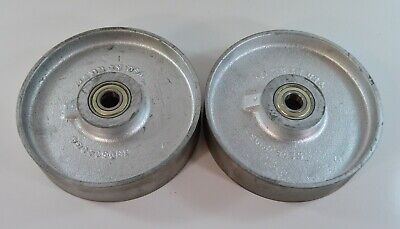 Lot Of 2 8 Cast Iron Trew Wheels Ss08020g4 1600 Lbs. Capacity Caster 2 Wide