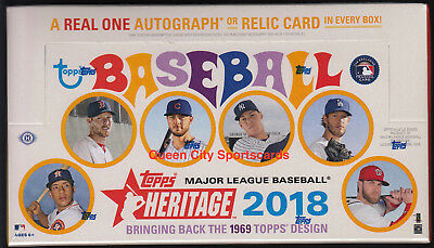 2018 Topps Heritage Baseball Factory Sealed Hobby Box