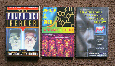 Philip K. Dick Three 3 Books A Scanner Darkly  Do Androids Dream 1st Editions
