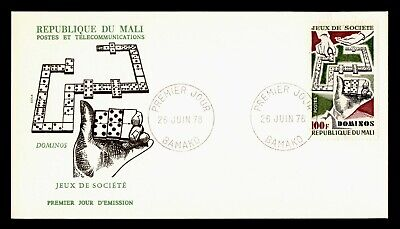 DR WHO 1978 MALI FDC DOMINOS GAMES CACHET  g18458