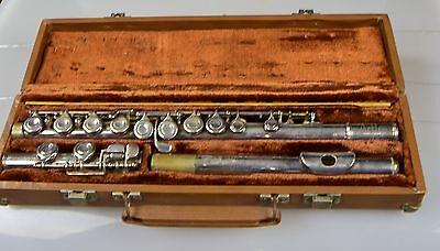 Original Flauta Travesera en Maleta Nr.398440 Artley Nogales Ariz 18-0
