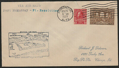 FIRST FLIGHT COVER - AAMC #519c - 1929 -  FT. MAC, AB to FT. RESOLUTION, NWT