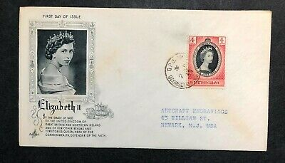 British Guiana 1953 Coronation FDC First Day cover