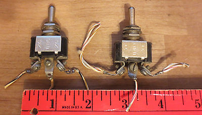 Vintage Used Lot Of 2 Toggle Switches Ms35058-21 On-off-on