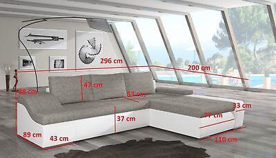 Wohnzimmer Moderne Schlafsofa (Moderne Ecksofa Ontario Bettfunktion Wohnzimmer Couch Textil Sofas Schlaf Sofa)