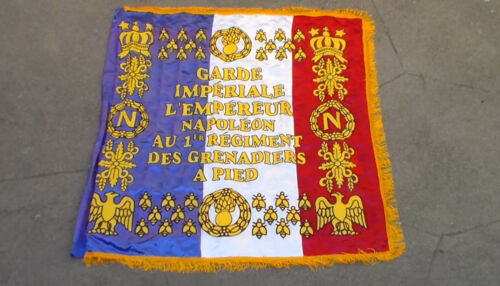Old Vintage Replica War of 1812 French Napoleon Imperial Guard Battle Flag USED