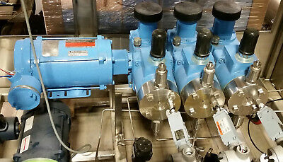 Lewa Ek3 Triple 3 Metering Pump Ek-3 W1 12 Hp Reliance Motor