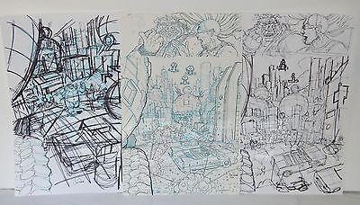 TMNT Original Comic Art Bebop Rocksteady #4 p 6 Nick Pitarra Destroy Everything