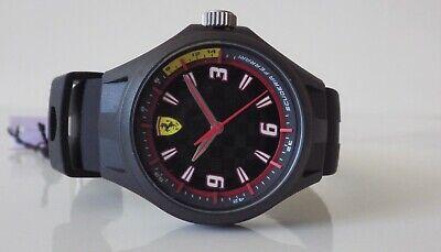 Official Scuderia Ferrari men's pit crew black dial Black strap watch NEW £129