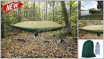 Nylon Parachute Hammock EARTH Mosquito Net Camping Lightweight Outdoors GREEN ..