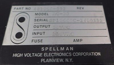 Spellman High Voltage Power Supply 28 Vdc Model Ac-30