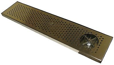 Draft Beer Rinser Drip Tray 36 X 8 W S.s. Grill 4 Metal Drain - Dtw-36ss-r