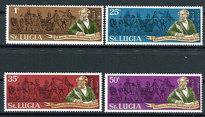 a 1970 100 Todestag Charles Dickens 270 - 273  ** BR075 (St Lucia Tag)