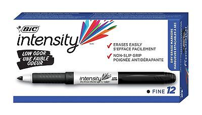Bic Intensity Low Odor Dry Erase Markers Fine Point Black 807874