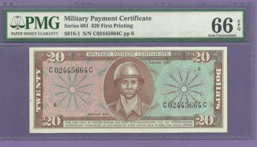 MPC 681 Twenty Dollar PMG 66 EPQ