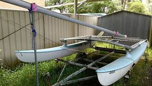 Hobie 14 Cat / Catamaran complete, good galvanised trailer, $900 Callala Bay Shoalhaven Area Preview