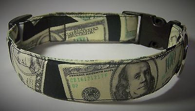 - Wet Nose Designs Cha Ching Cash Money Dog Collar Big Bucks