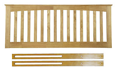 Bragi Solid Wood Headboard Shaker Style In Oak Or White 3ft 4ft 4ft6