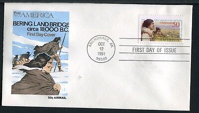 C131 * HOUSE OF FARNAM FDCs OF 1991 AIRMAIL STAMP * BERING LAND BRIDGE  > for sale  Shipping to India