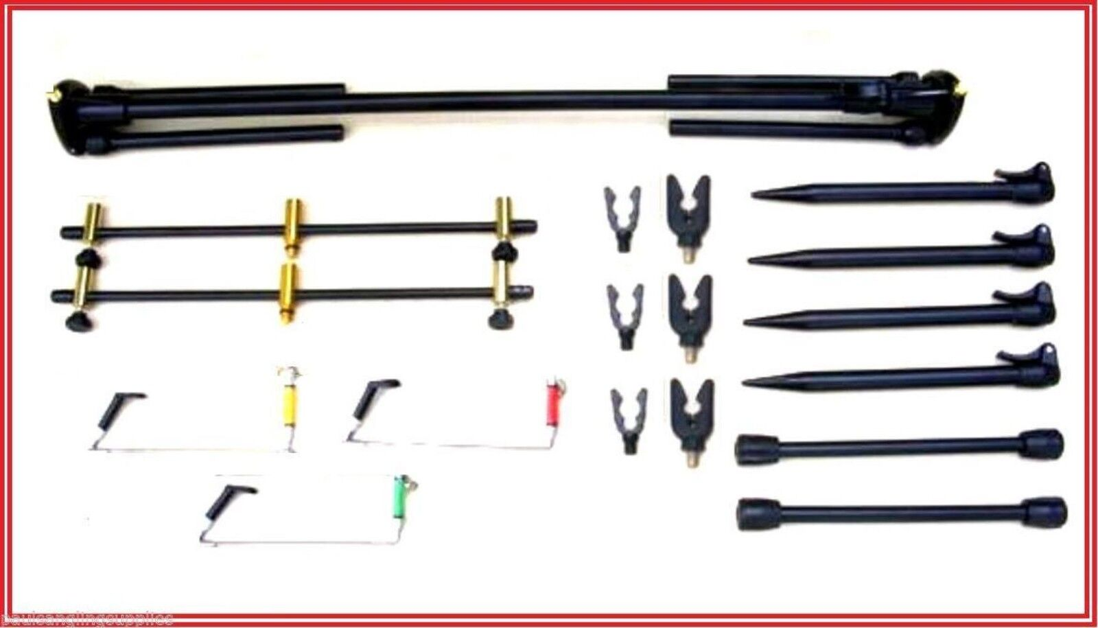 Max performance carp fishing rod pod for 3 rods for Fishing rod accessories