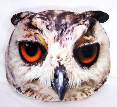 Dekokissen Eule Kissen Grummelkissen Owl pillow 40x40cm Reißverschluss Neu