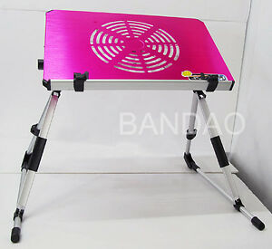 Portable-Lap-Notebook-Computer-Table-Laptop-bed-Stand-Reading-Desk-cooler-fan