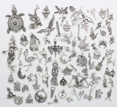 - Wholesale Antique Silver Jewelry Charms Pendant Carfts DIY For Bracelet Earrings