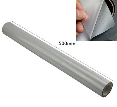 20 Silver Iron On Reflective Tape Heat Transfer Vinyl Diy Logo Letters 500mmx2m