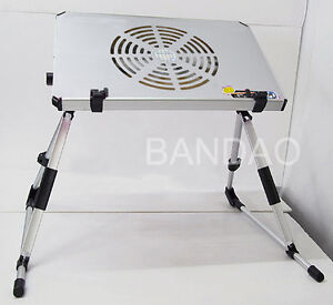 Portable Lap Notebook Computer Table Laptop bed Stand Reading Desk cooler fan